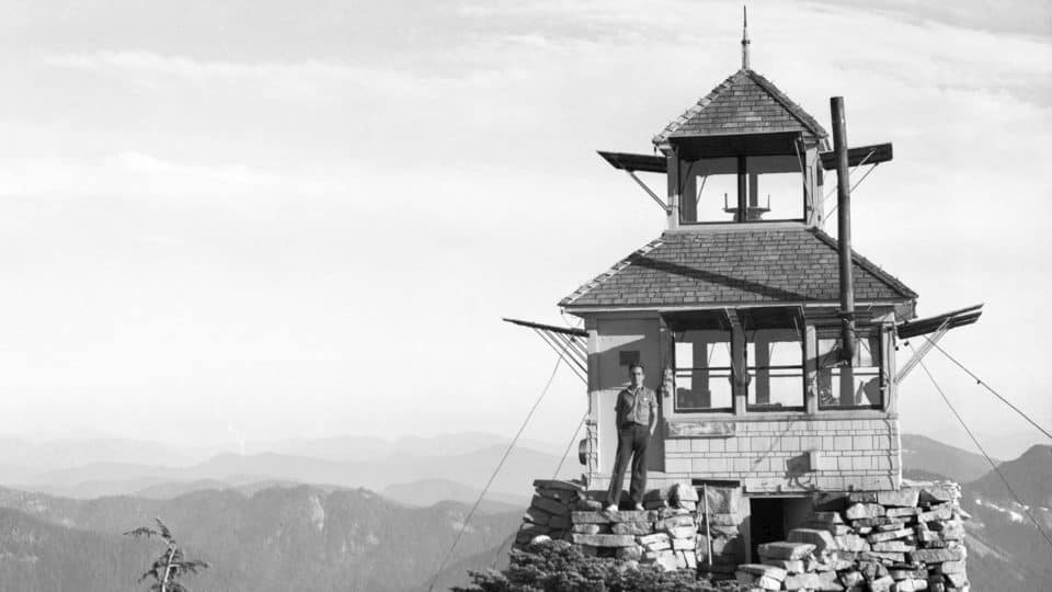 Granite Mountain Lookout Tower In 1939